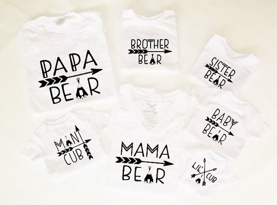 mama bear baby bear lil cub papa bear photo by family matching shirts daddy mama son father daughter man cubCandycoatedDreamz sister brother