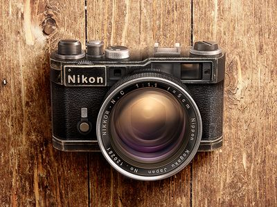 Camera Nikon Rangefinder #illustration #design #inspiration