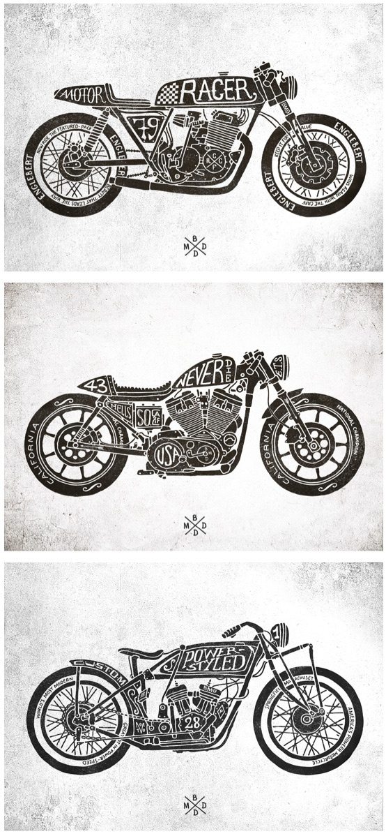 CAFE RACER MOTORCYCLES — CFRC :: Hand-lettering & typography from BMD Design.