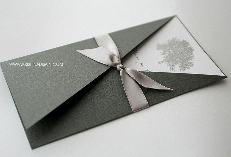 silver tree invitation