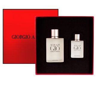 ACQUA DI GIO For Men By GIORGIO ARMANI Gift Set by Giorgio Armani. $67.99. ACQUA DI GIO For Men By GIORGIO ARMANI Gift Set. Save 20%!