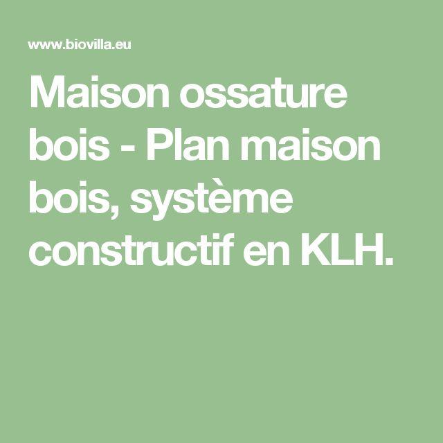 Maison ossature bois - Plan maison bois, système constructif en KLH