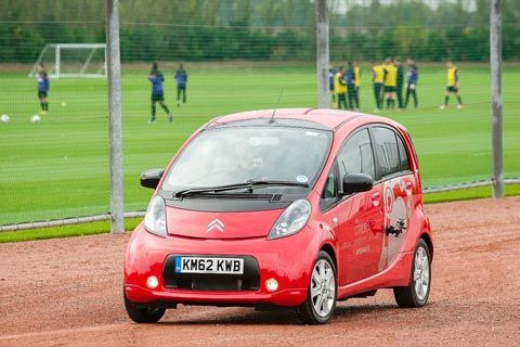 Two Citroen C-Zero electric cars added to Arsenal Football Team in England
