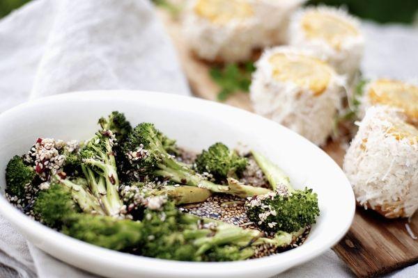 grillet brokkoli i ponzusaus