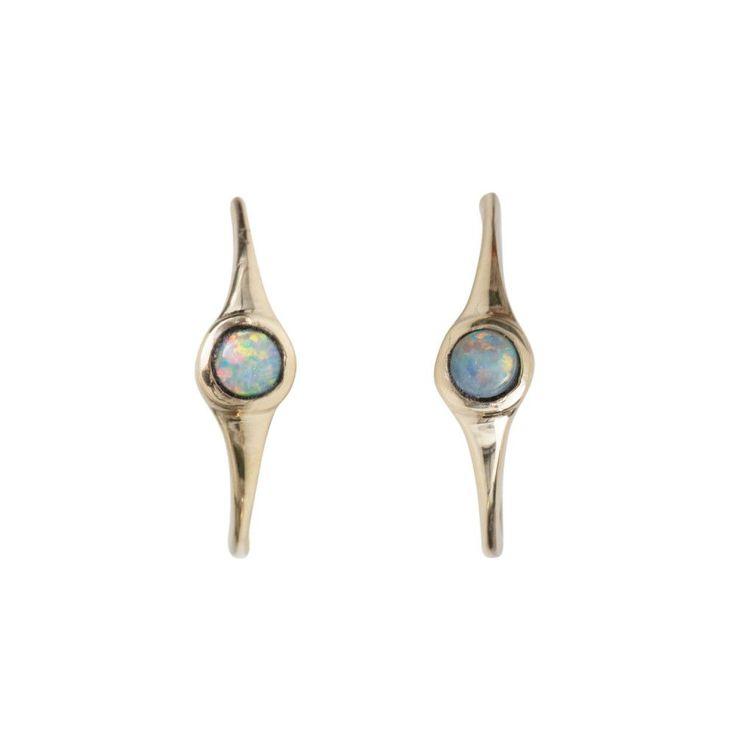 Kova&T Rose and White Gold Hoop Earrings frP03edv