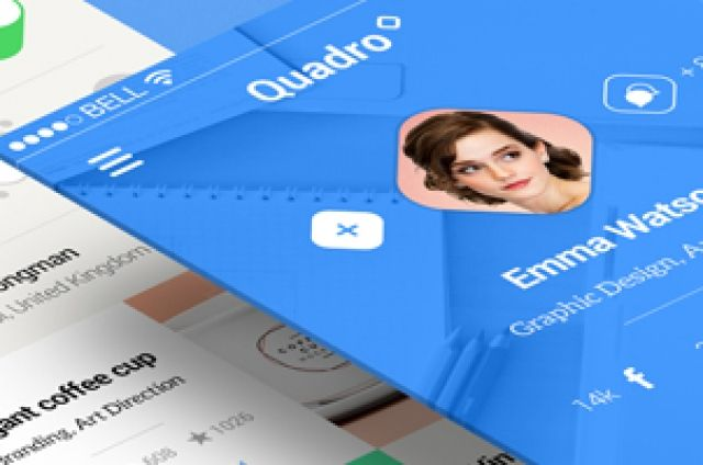 Quadro is great modern and flat designed mobile app UI design to hep you create great looking mobile user experiences....