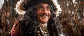 """Dustin Hoffman como El Capitan Garfio en """"Hook"""" (1991)"""