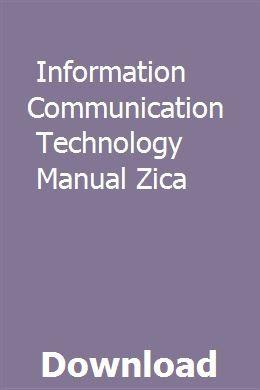 Information Communication Technology Manual Zica download pdf