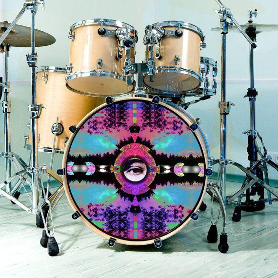 手机壳定制patagonia sale outlet online Bass Drum Skin Visionary Expansion Decal by ArtfulMusicianPRTLND