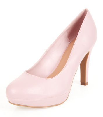 Wide Fit Pink Court Shoes