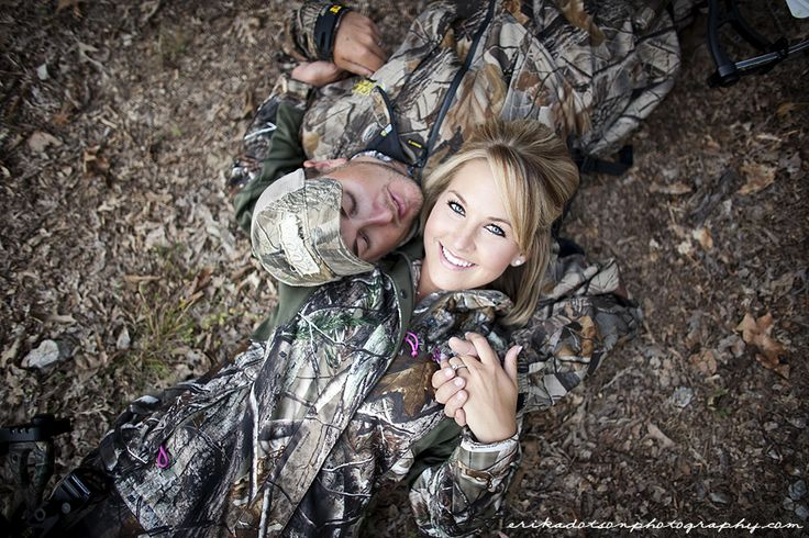loveee this!!.....we are not wearing camo but i did have to plan oyr wedding around huntung season ...lol this would be a cute pic to have