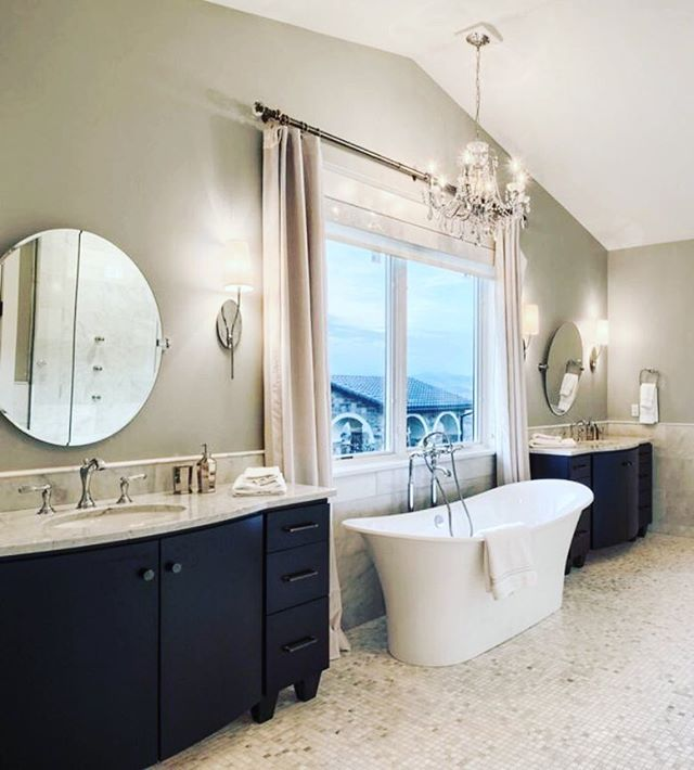 So glamorous… | by Urrutia Design  #masterbath #masterbathroom #bathtub #interiordesignideas #designideas #staging #southernliving #MasterBedroom #onetofollow #livingroomdecor #girlsroom #bedroomdecor #top10 #hgtv #interiordecor #housebeautiful #inspire_m