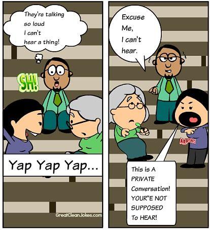 Private Conversation Cartoon   Funny Cartoons   Funny ...