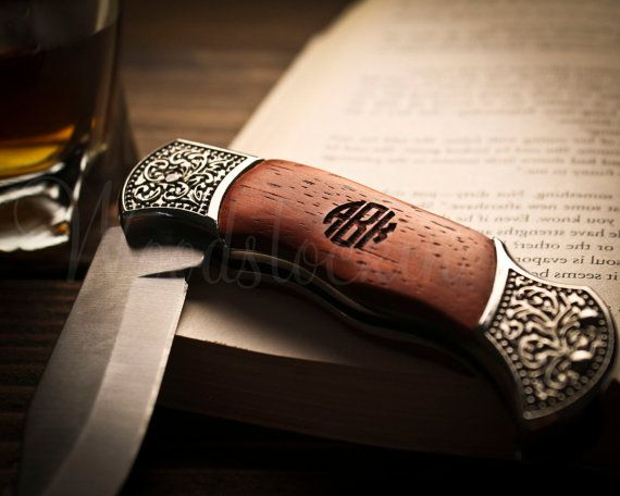Personalized Folding Knife Wooden Pocket Knife Wood Knife Wedding Favor Hunting Knife For Fathers Day Gift Engraved Gifts Groomsman Gifts