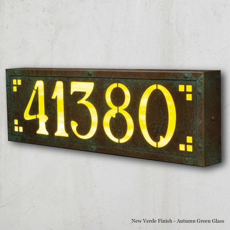 Large Pasadena Avenue Illuminated House Numbers