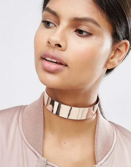 ASOS | ASOS Wide Metal Choker Necklace                                                                                                                                                                                 More