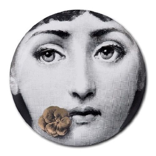 Vintage Celebrities Fornasetti Face - Round Mousepad Pc Mouse Pad  #Handmade