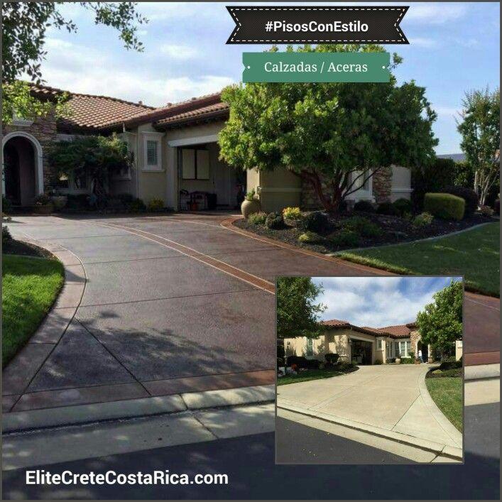 #PisosConEstilo en las Aceras: las calzadas, entradas, calles, pasillos, corredor, camino u otra área de exteriores (o interiores también). Imagine lo que guste y ese acabado y diseño lo puede lograr.  Contáctenos para que aprenda como especificar o instalar nuestras innovadoras soluciones en Sistemas de Pisos para #Concreto.  #CostaRica #Innovación #MicroCemento #Estampado #Manchado #ColorIntegral  #Flooring