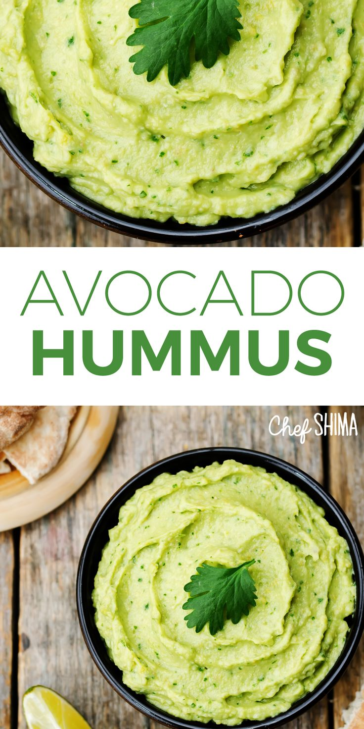 Avocado Hummus | This looks delicious... Can't wait to make this tomorrow!