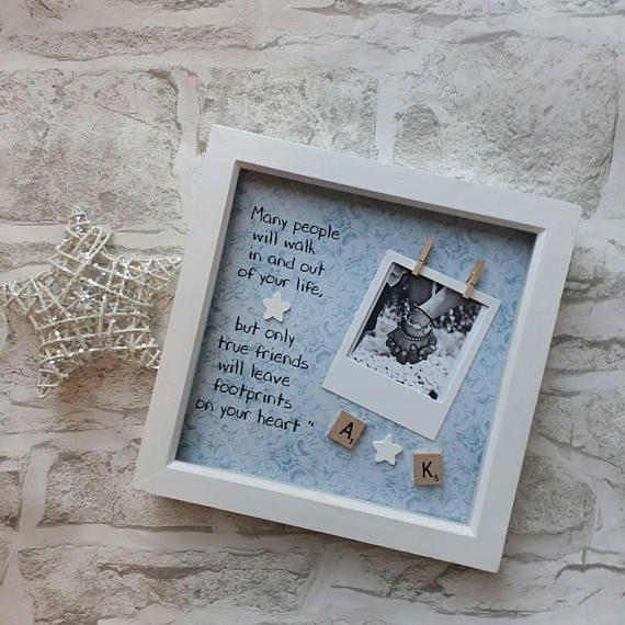 Best Friends Frame,Present For Friend,Bridesmaid Gift,Present For Maid of Honour,Gift for Bestie, Friends Forever Frame