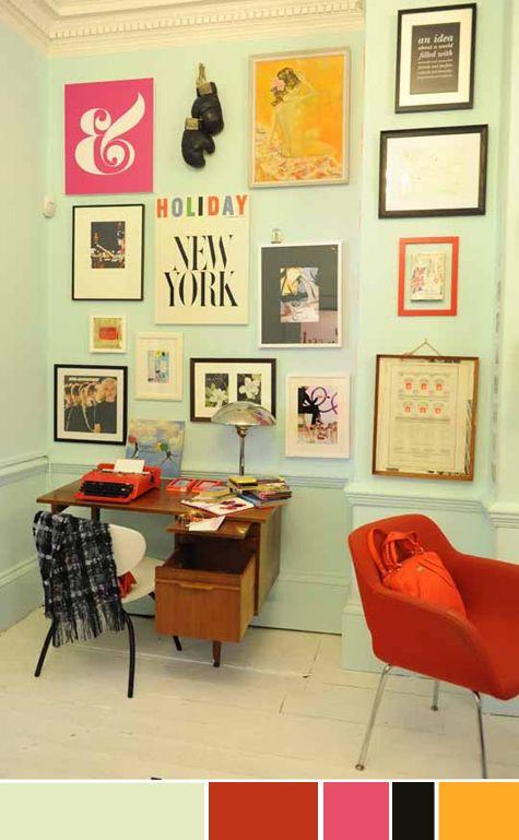 Composição De Cores E Quadros: Tudo Pra Um Home Office Fofo, Com Estilo E