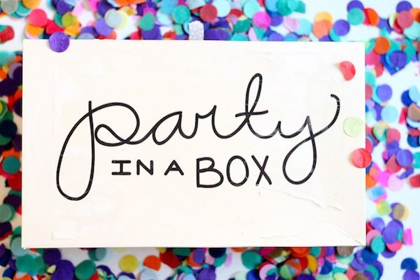 party in a box. #celebrateeveryday this event planner put everything you need to have a party in a single box.  Would be a great gift for a birthday girl (or boy) that you couldn't celebrate with in person.