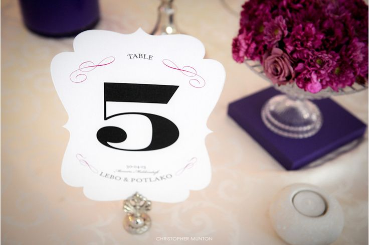 Chris Munton Photography, Table numbers by Canvas Stationery Boutique