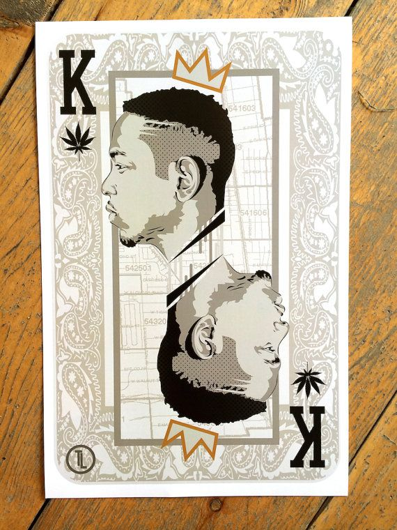 King Kendrick Lamar Player Card Digital Art Print