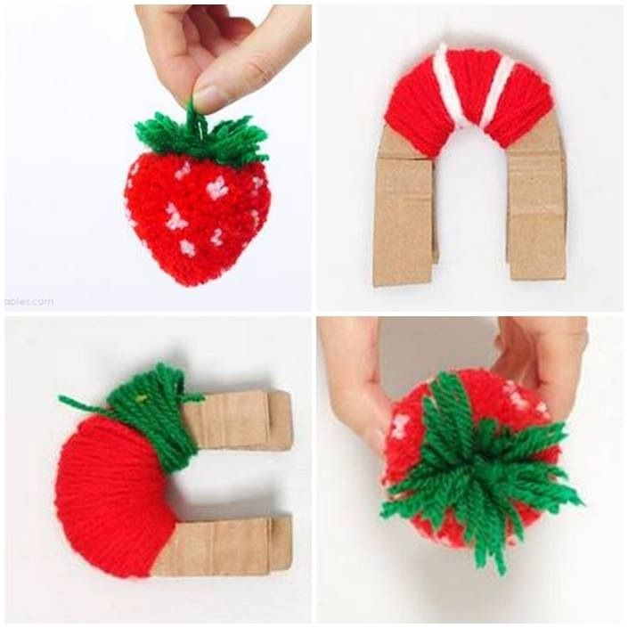Strawberry pom pom