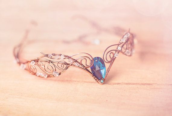 Tiara Swan Princess Weddings Hair accessory Fairy by ArtJewerly, $75.00