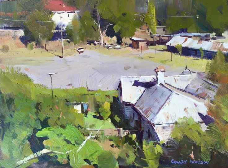 Colley Whisson     Castlemaine in July, Victoria Oil.