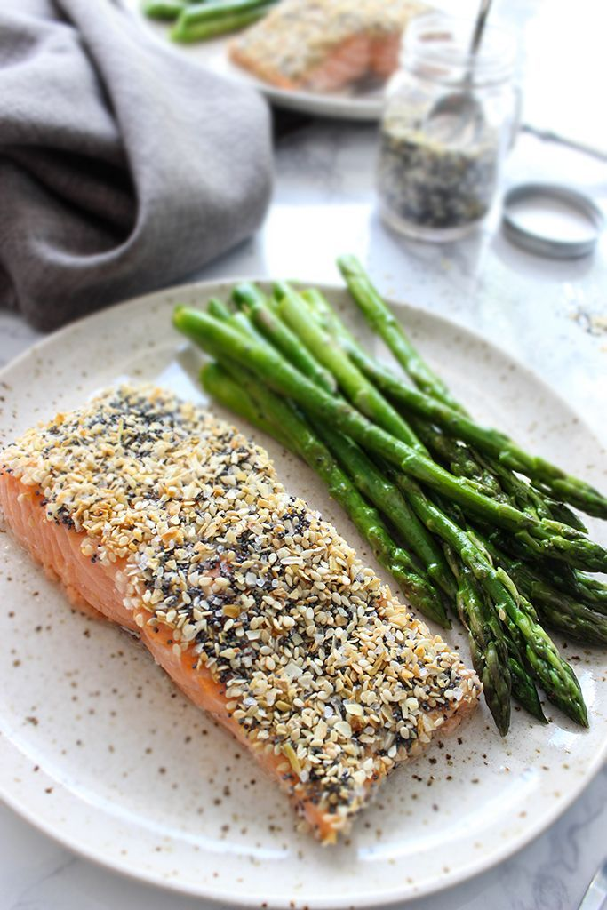 This boldly flavored sesame crusted salmon (everything bagel salmon) only needs…