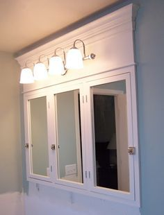 Charming DIY Vanity Mirror With Lights For Bathroom And Makeup Station. Bathroom  Medicine CabinetMedicine ...