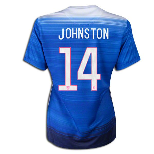 2015 FIFA Women's World Cup USA Julie Johnston 14 Women Away Soccer Jersey