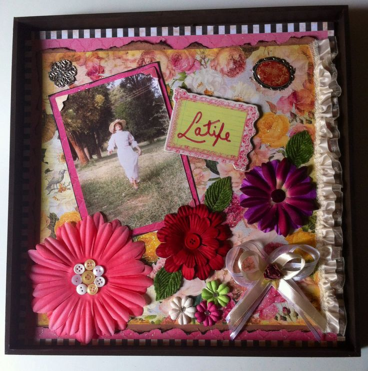 Scrapbooking dedicated to my mother in law - Scrap para mi suegra