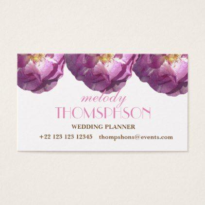 #beauty - #Wedding Planner Pink Rose Elegant Business Cards