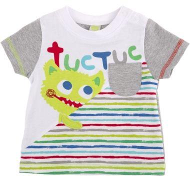 Camiseta combinada let´s paint let's pain, para nino - tuc tuc