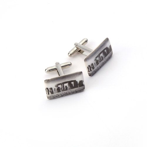 Handmade exclusively for English Heritage from the purest white earthenware clay celebrate the world famous heritage site, Stonehenge, with these striking cufflinks.  http://www.english-heritageshop.org.uk/jewellery/watches-and-cufflinks/stonehenge-ceramic-cufflinks