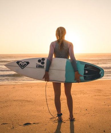 Bianca Buitendag had a chance to reflect on her connection to the beautiful beach breaks of the south west
