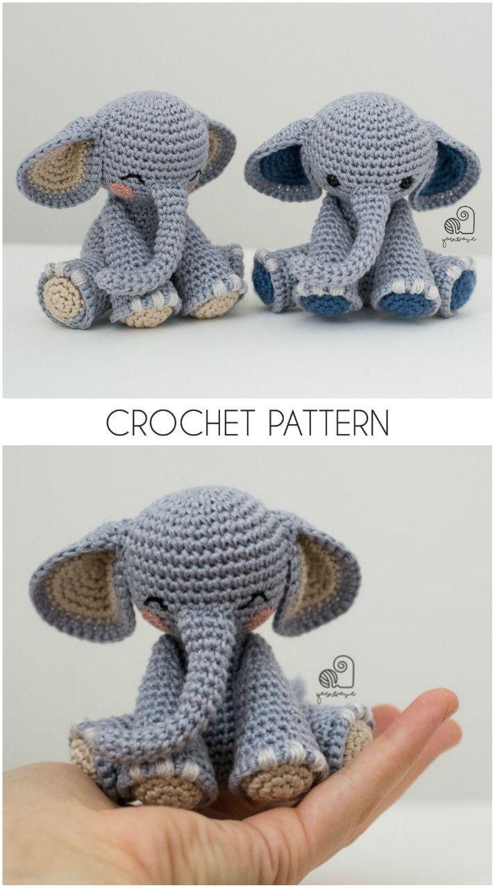Amigurumi Little Elephant Free Crochet Pattern in 2020 | Amigurumi ... | 1277x713