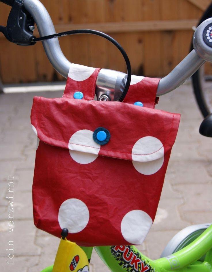fein verzwirnt: Fahrradtäschen mit Tutorial