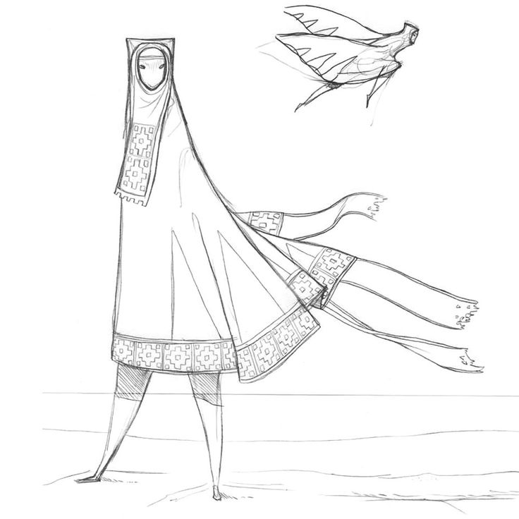 Journey. Pre-Development Sketches of 'The Cloaked Figure'