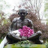 Ghandi memorial Tavistock Square Gardens London
