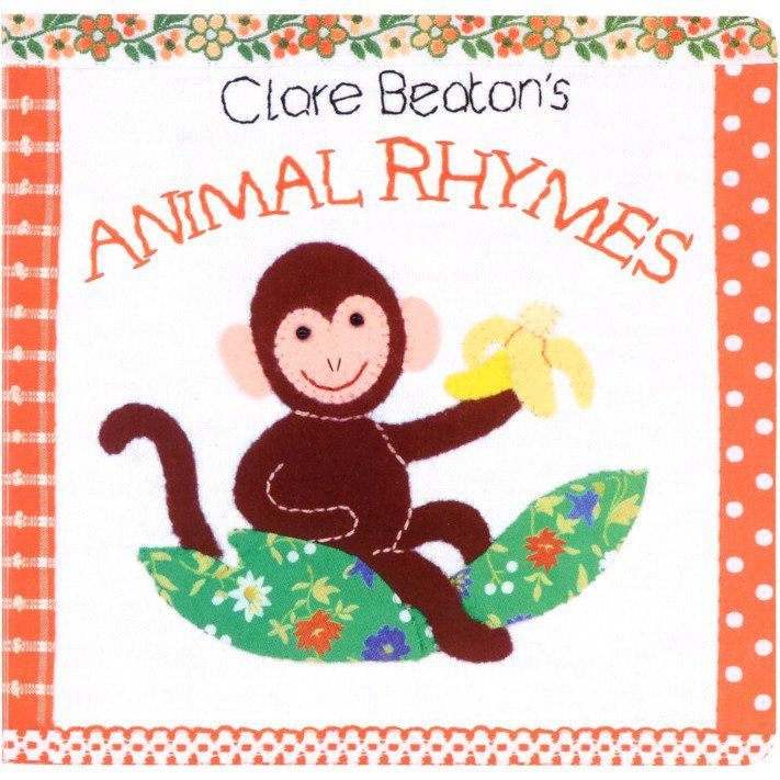 Name and count the wild animals in this book of classic nursery rhymes featuring fabric illustrations by Clare Beaton. Printed using recycled paper & vegetable-based ink.