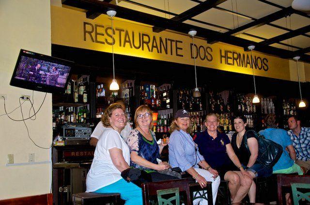 Chester County Art Association's ladies enjoying Hemingway's bar in #Havana #Cuba