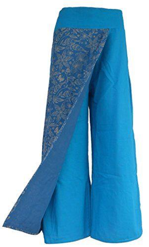 Bonya Women's Boho Cotton Casual Palazzo Pants - (Sky Blue1) Bonya Collections http://www.amazon.com/dp/B015M1LTN8/ref=cm_sw_r_pi_dp_W.PLwb191PZ8G