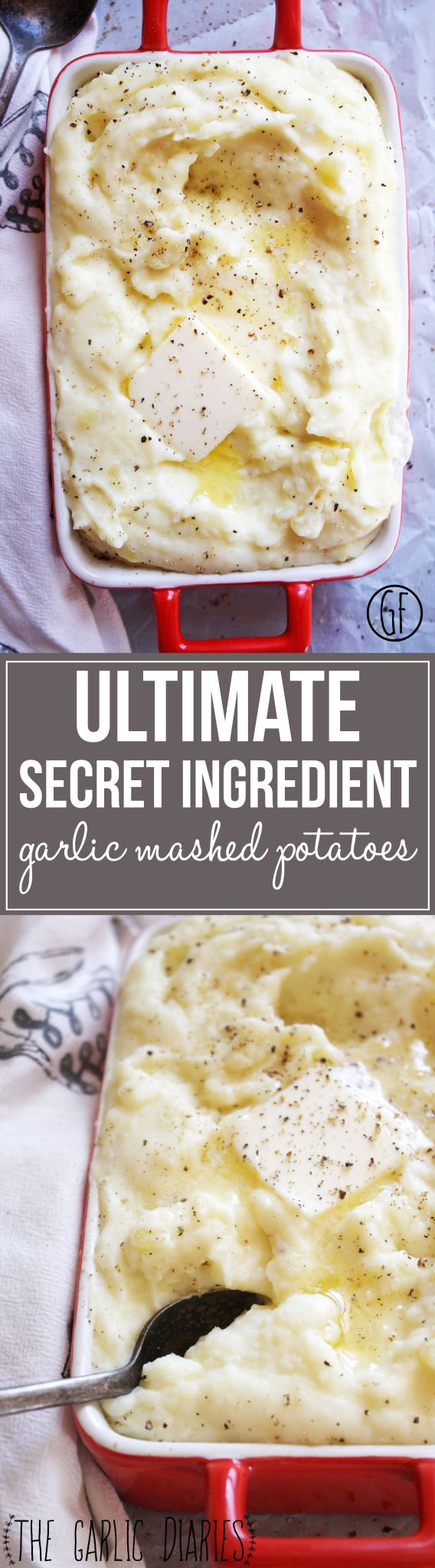 Ultimate Secret Ingredient Garlic Mashed Potatoes - a few special tricks set these mashed potatoes apart from all the others! Buttery, creamy, garlicky - it doesn't get any better than this :).