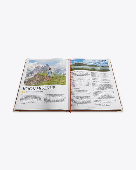 Opened Book Mockup – High Angle Shot