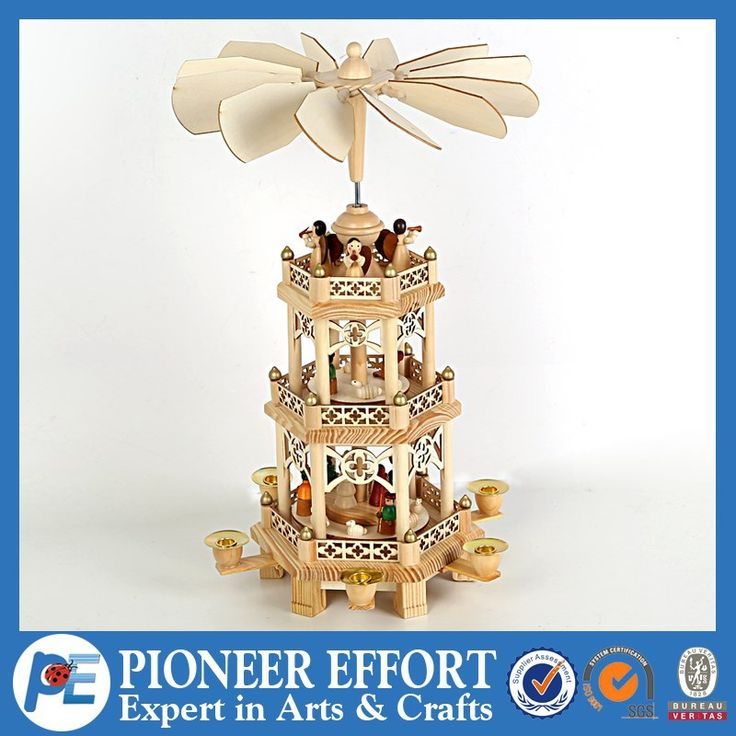 Wooden Christmas pyramid windmill, View Christmas decoration, PE Product Details from Shanghai Pioneer Effort Arts & Crafts Company Limited on Alibaba.com