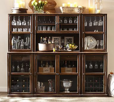 Saxton Entertaining Bar Suite(2 Single Cabinets, 2 Single Hutches, 1 Double  Cabinet · Home Bar FurnitureKitchen ...